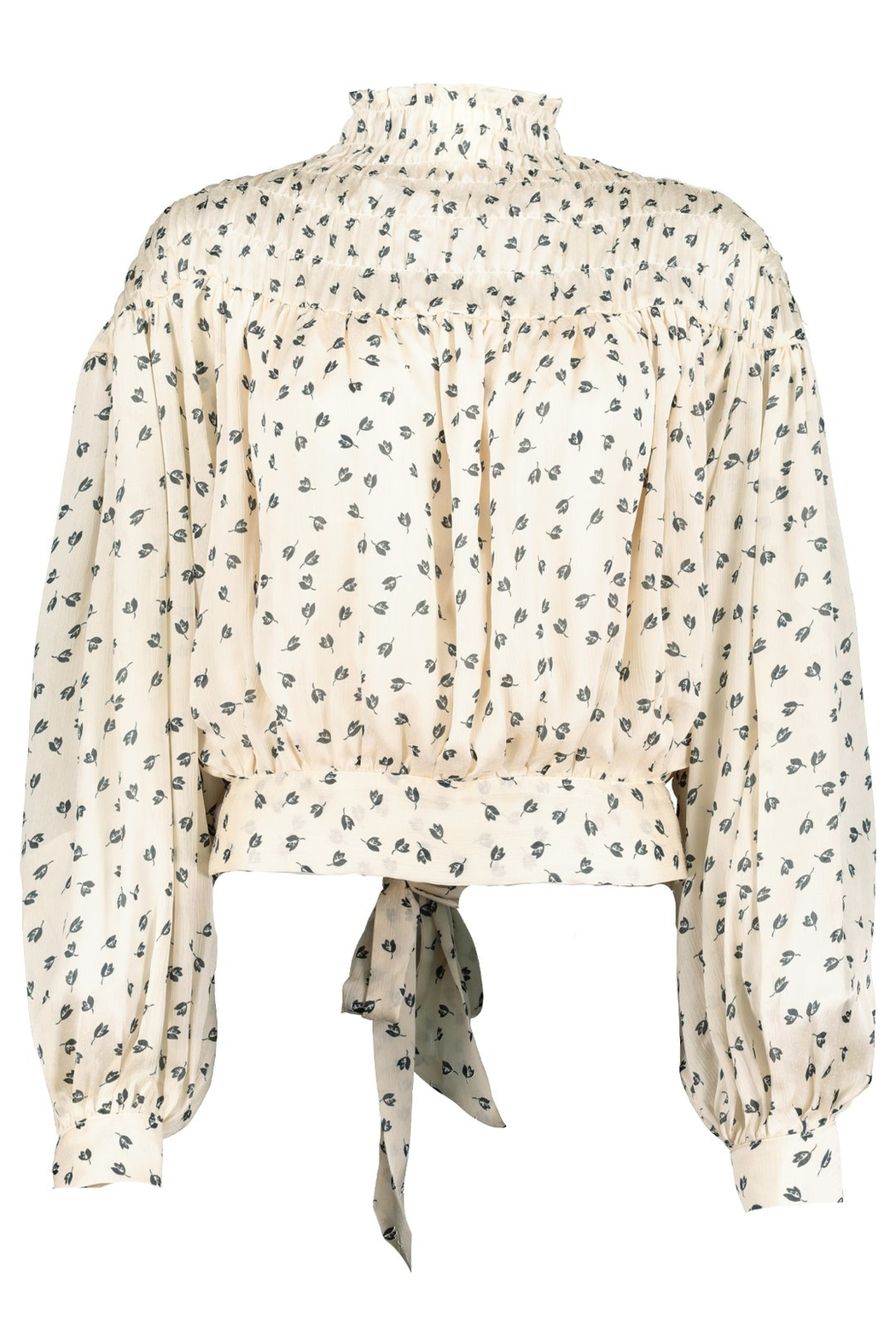Bishop + Young Tucker Smock Neck Top - Front Full Image