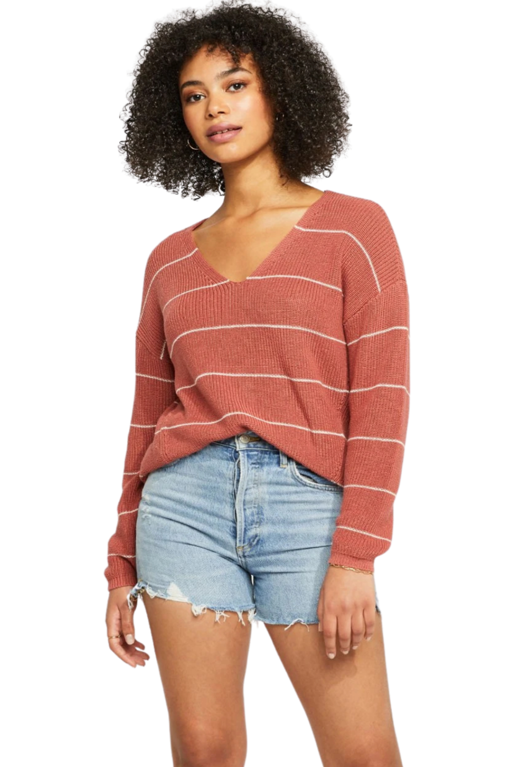 Gentle Fawn Tucker Stripe Sweater - Front Cropped Image