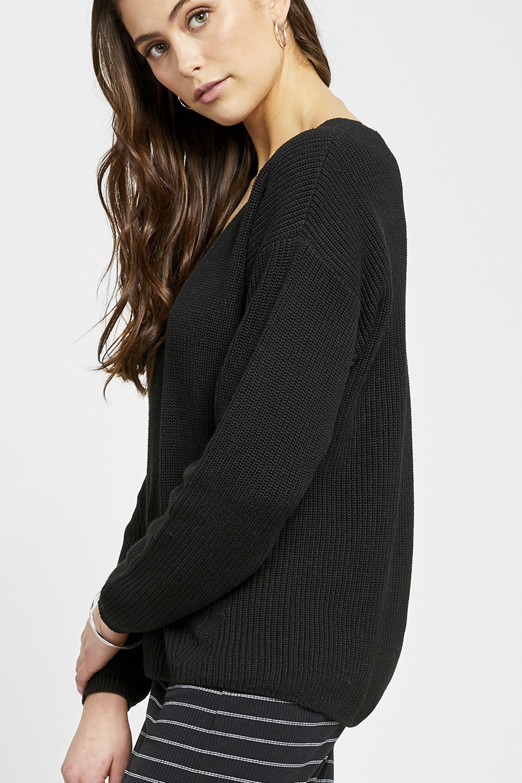 Gentle Fawn Tucker V-Neck Sweater - Front Full Image
