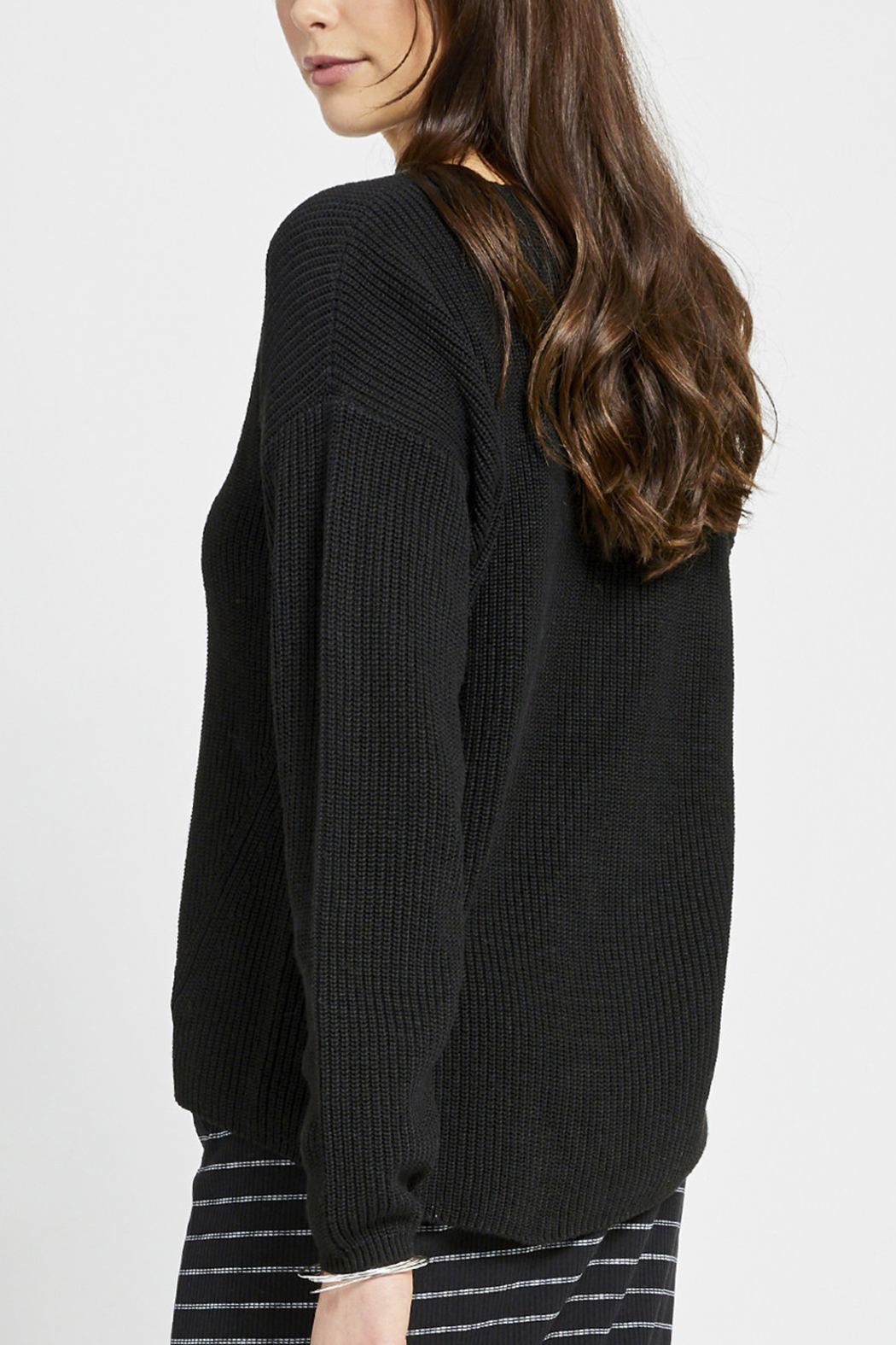 Gentle Fawn Tucker V-Neck Sweater - Side Cropped Image