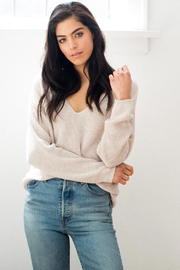 Gentle Fawn Tucker V-Neck Sweater - Product Mini Image