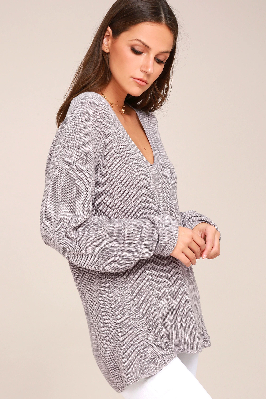 Gentle Fawn Tucker V-Neck Sweater - Main Image