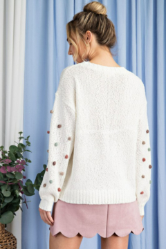 ee:some Tufted Dot Knit Sweater - Alternate List Image