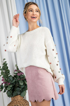 ee:some Tufted Dot Knit Sweater - Product List Image