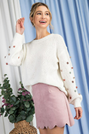 ee:some Tufted Dot Knit Sweater - Product Mini Image