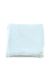 tugboat & the bird Blue Receiving Blanket - Product Mini Image