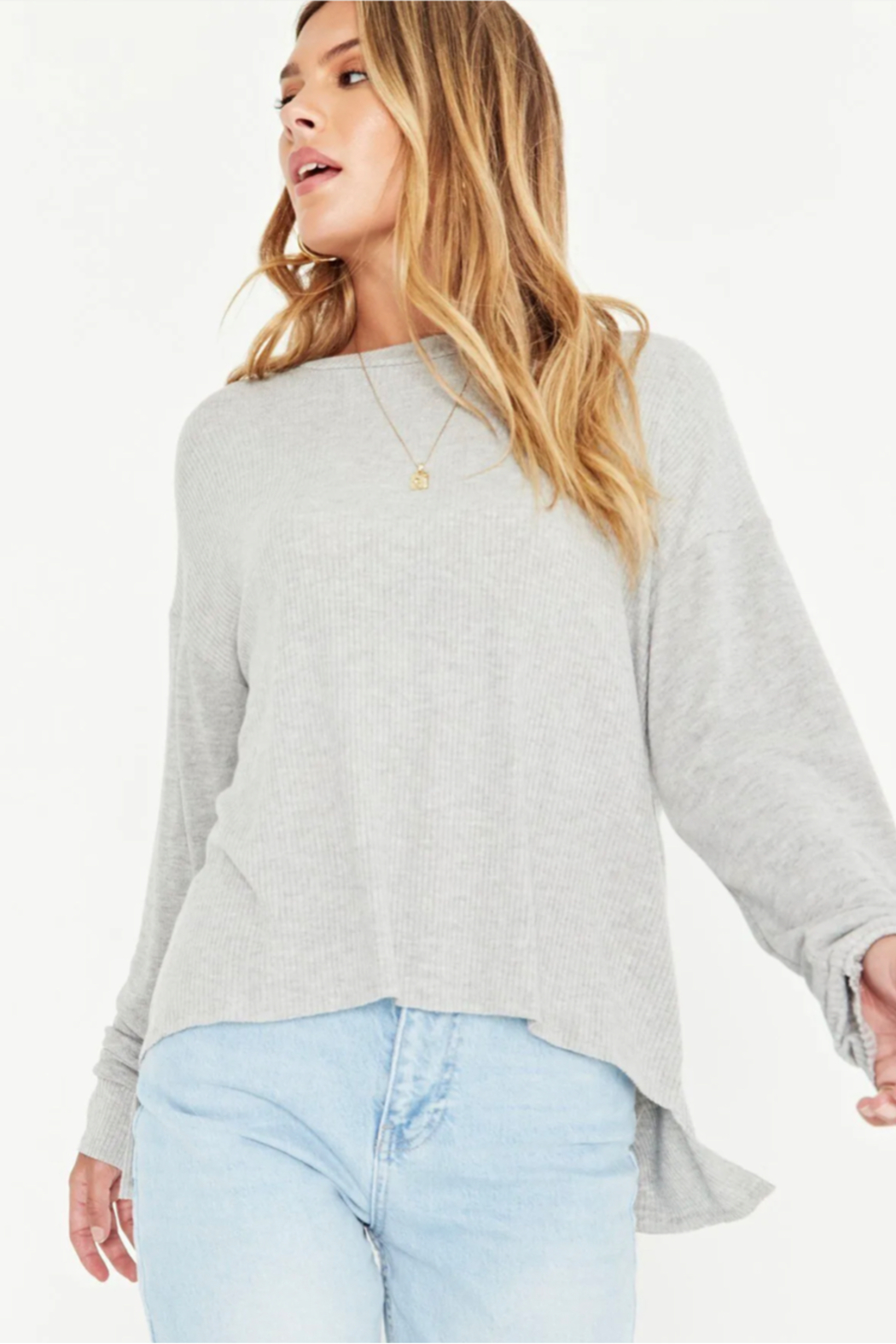 Project Social T Tula Rib Mix Long Sleeve - Side Cropped Image