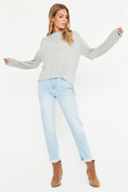 Project Social T Tula Rib Mix Long Sleeve - Front full body