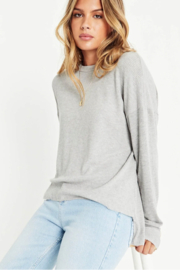 Project Social T Tula Rib Mix Long Sleeve - Front cropped