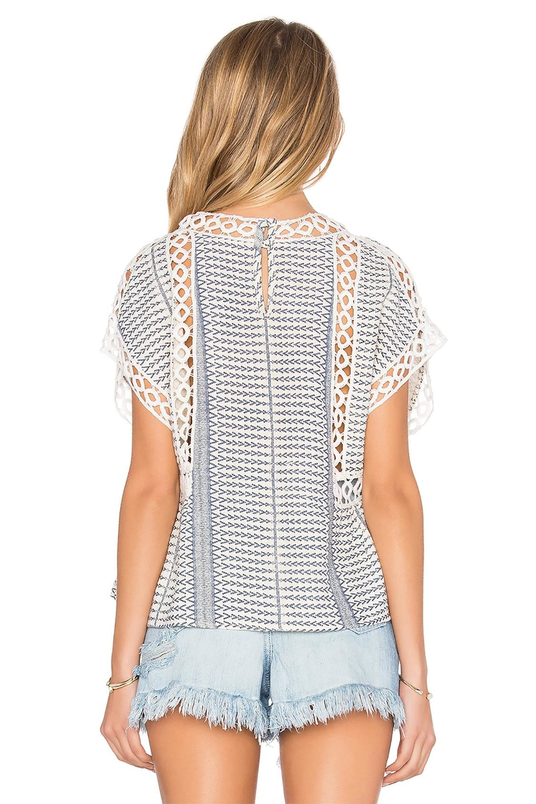 Tularosa  Marla Embroidered Top - Side Cropped Image