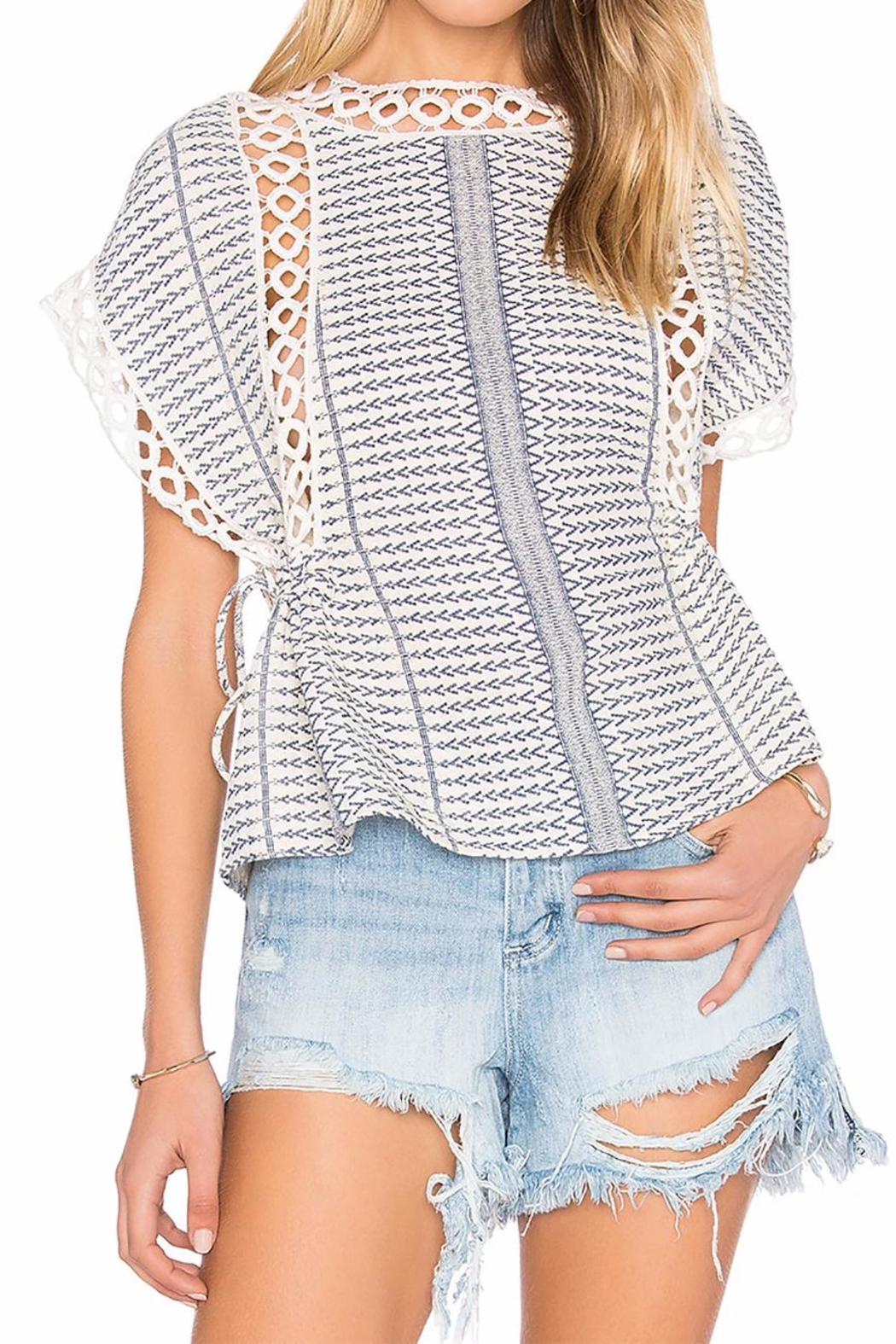 Tularosa  Marla Embroidered Top - Front Cropped Image