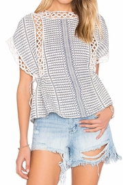 Tularosa  Marla Embroidered Top - Front cropped