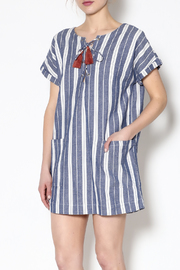Tularosa  Blue Stripe Dress - Product Mini Image