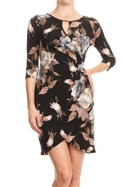 Purple Rain Tulip-Bottom Floral Dress - Front cropped
