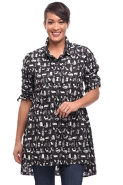 Tulip Cats Tunic Shirt - Product Mini Image