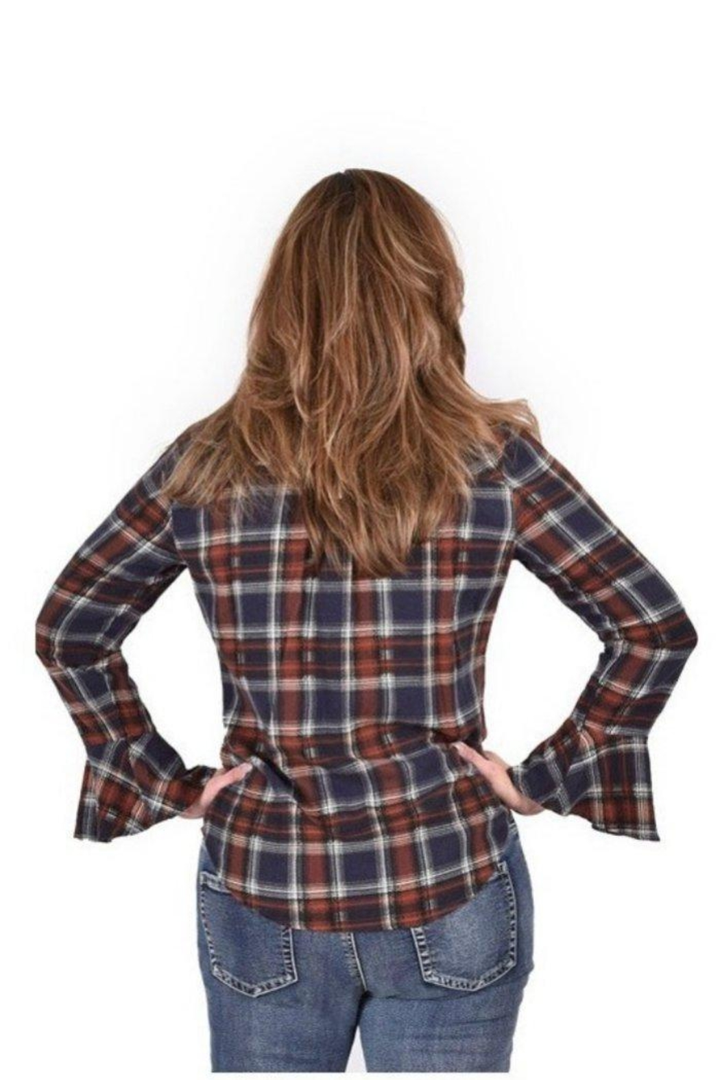 Ethyl Tulip Cuff Button-Up - Front Full Image