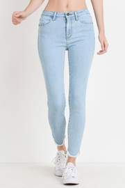 just black Tulip Frayed Skinnys - Front cropped