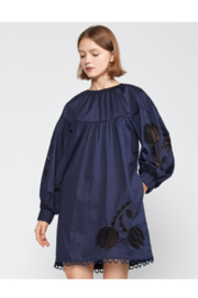 Cynthia Rowley Tulip Lace Embroidered Dress - Front full body