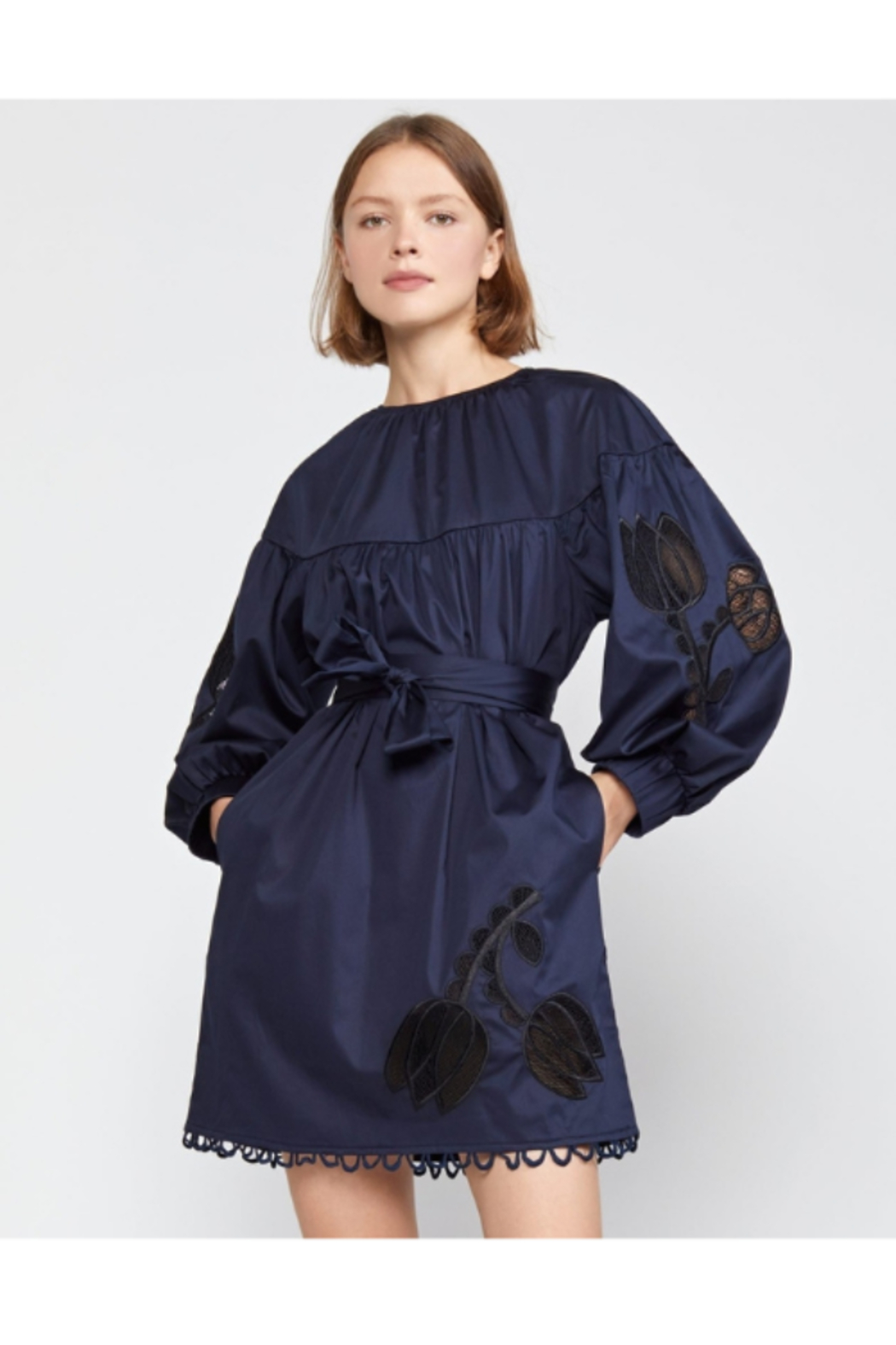 Cynthia Rowley Tulip Lace Embroidered Dress - Main Image