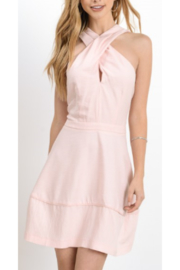 Hommage Tulip Pink Criss Cross Mini Dress - Product Mini Image