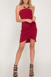 She & Sky  Tulip Strapless Dress - Product Mini Image