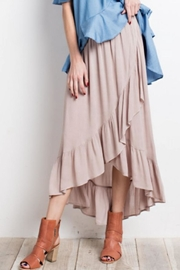 easel Tulip Wrap Skirt - Front cropped