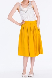 Tulip B Mustard Midi Skirt - Product Mini Image