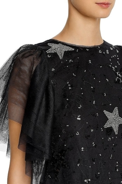 Aidan Mattox Tulle Flutter Sleeve Star Dress - Alternate List Image