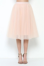 Esley Collection Tulle Midi Skirt - Front cropped