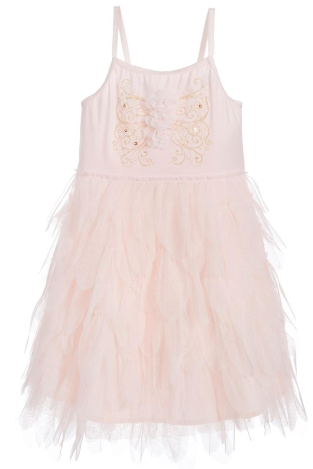Biscotti Tulle Petals Dress - Front Full Image