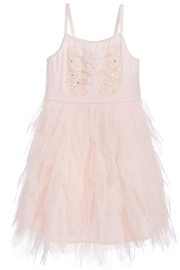 Biscotti Tulle Petals Dress - Front full body