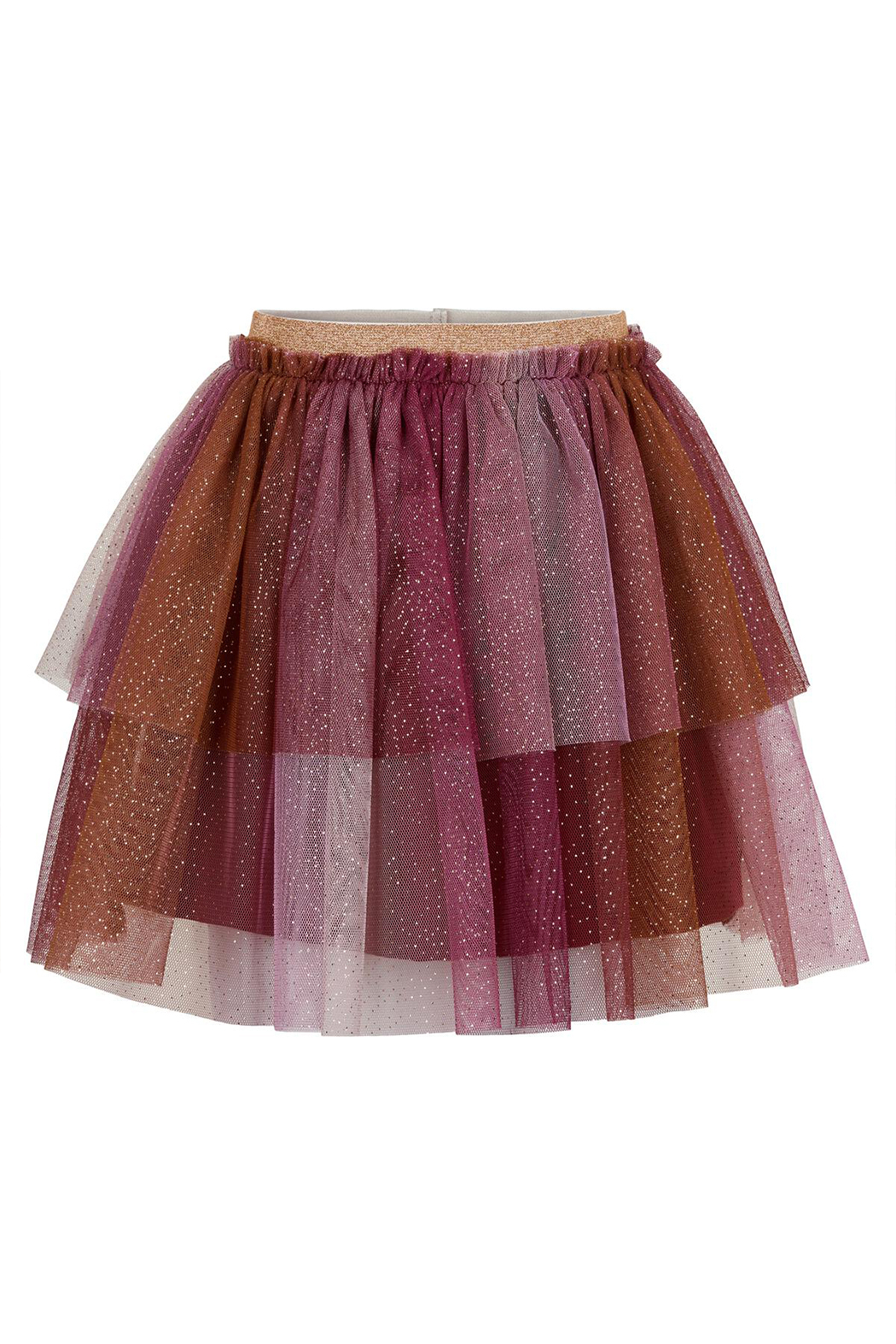 Minymo Tulle Skirt With Glitter - Rhododendron - Main Image
