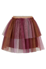 Minymo Tulle Skirt With Glitter - Rhododendron - Front cropped