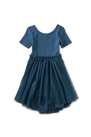 Tea Collection  Tulle Sleeve Ballet Dress - Indian Teal - Product Mini Image
