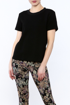 Tulle Black Textured Top - Product List Image