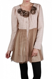 Ryu Tulle Tweed Coat - Front cropped