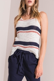 rag poets Tulum Stripe Sweater - Front cropped