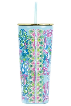 Lilly Pulitzer  Tumbler with Lid & Straw - Alternate List Image