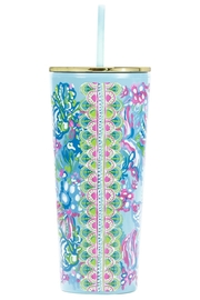 Lilly Pulitzer  Tumbler with Lid & Straw - Product Mini Image