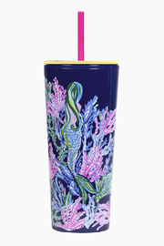 Lilly Pulitzer  Tumbler with Straw-24oz - Product Mini Image