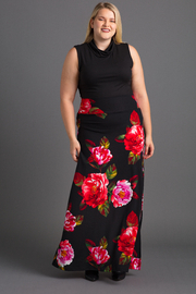 VKY & CO Tummy Control Maxi Skirt with Open Side Slit - Product Mini Image