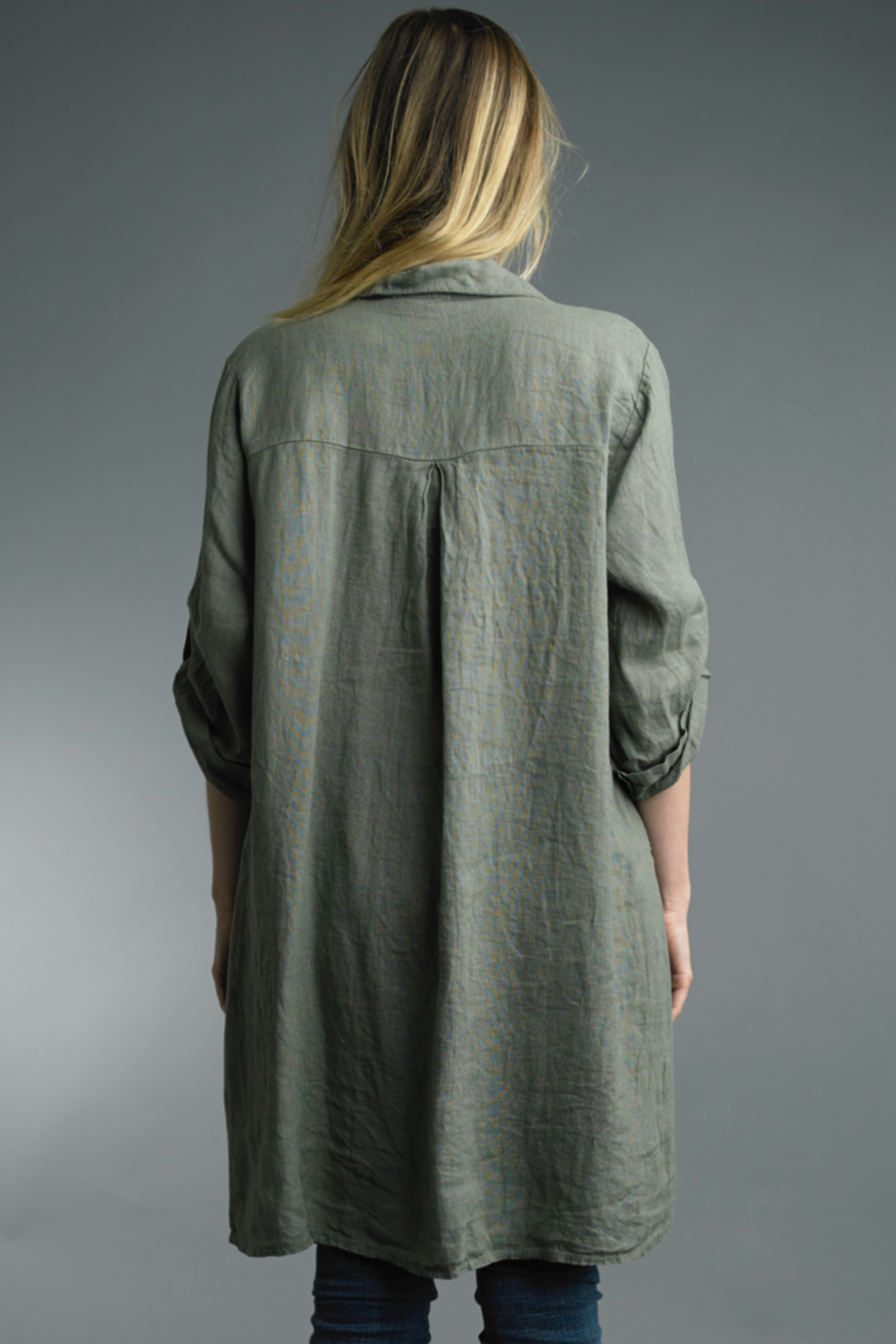 Tempo Paris  Tunic Button Up - Front Full Image