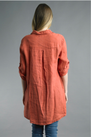 Tempo Paris  Tunic Button Up - Front full body