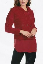 Frank Lyman Tunic Hoodie Top - Front cropped
