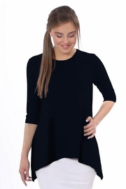 Kosher Casual Tunic with side dip handkerchief hem #1244 - Product Mini Image