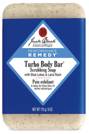 Jack Black Turbo Body Bar® Scrubbing Soap with Blue Lotus & Lava Rock - Front cropped
