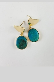 Fabulina Designs Turdquoise Dangle Earrings - Product Mini Image