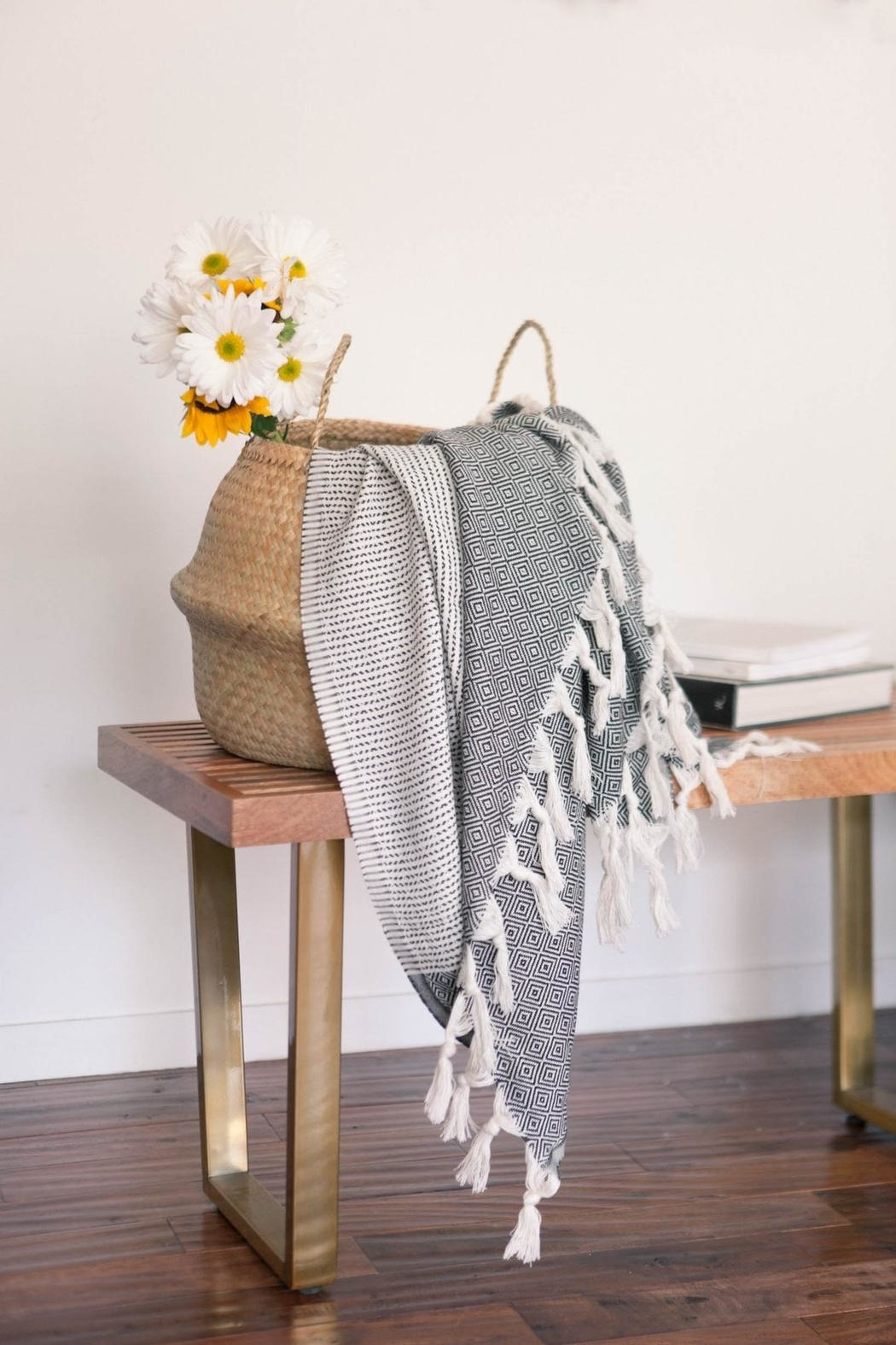 The Handloom Turkish Cotton Throw Towel - Back Cropped Image