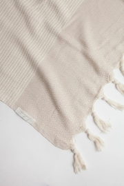 The Handloom Turkish Cotton Throw Towel - Side cropped