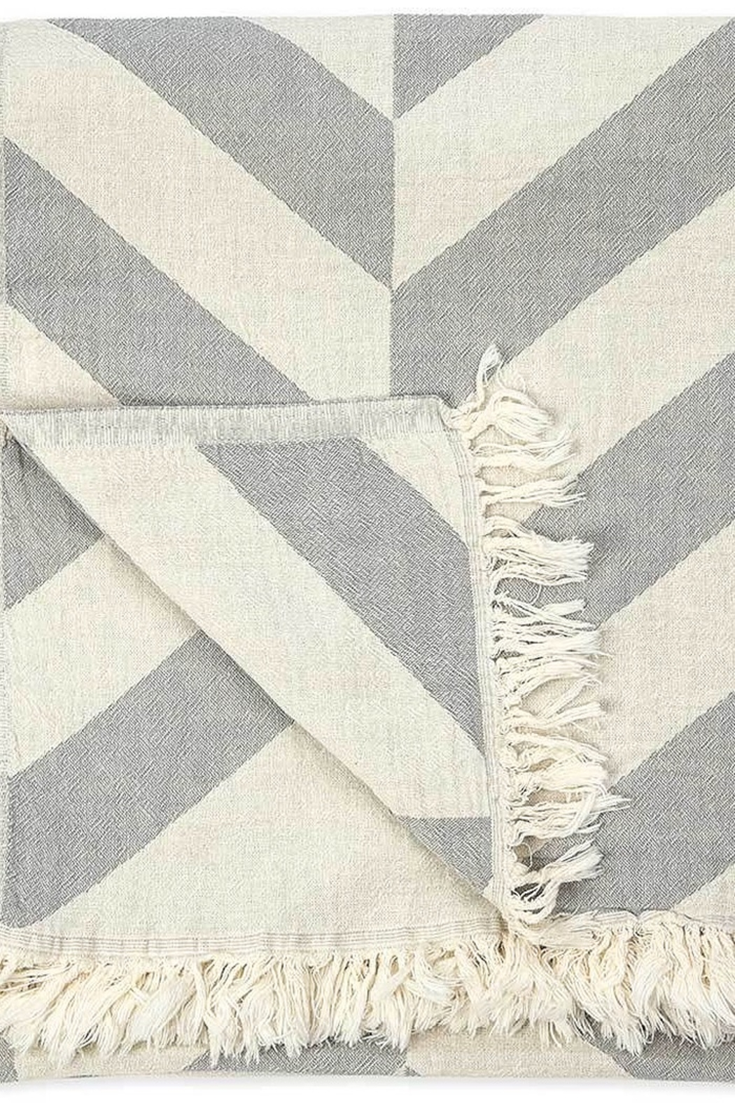 Pokoloko Turkish Towel In Large Chevron - Front Full Image